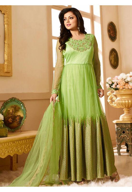 Drashti Dhami Embroidered Long Anarkali Suit_30