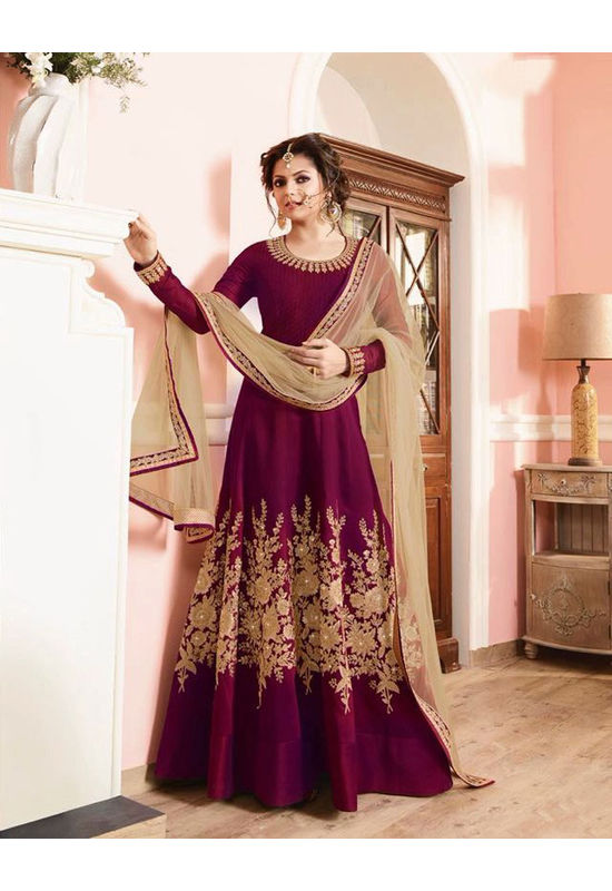 Drashti Dhami Embroidered Long Anarkali Suit_31