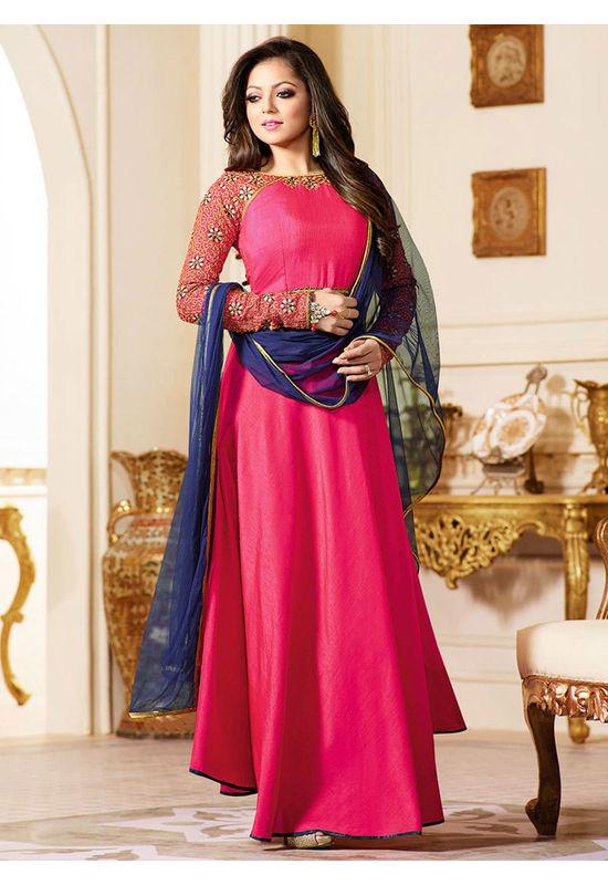 Drashti Dhami Embroidered Long Anarkali Suit_7