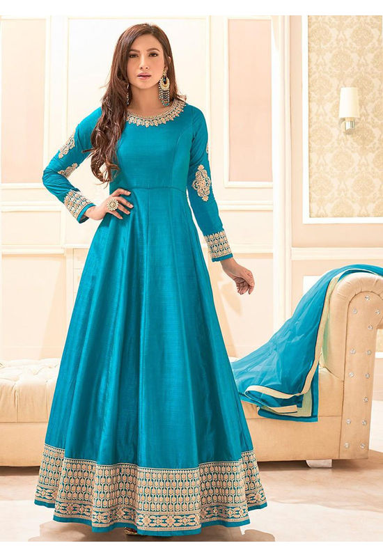Elegant Gauhar Khan Anarkali Suit _10