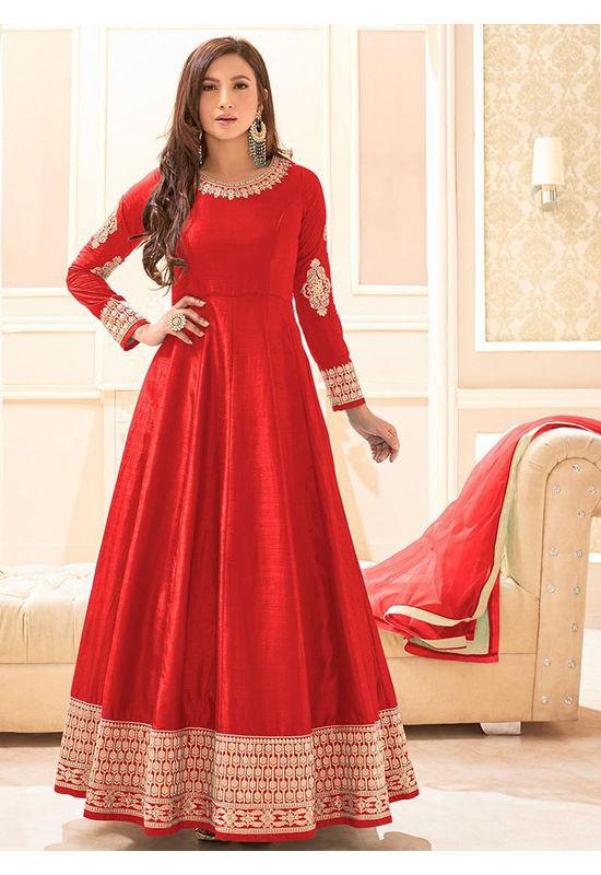 Elegant Gauhar Khan Anarkali Suit _13