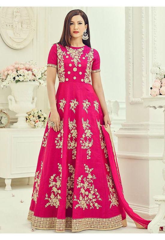 Elegant Gauhar Khan Anarkali Suit _14