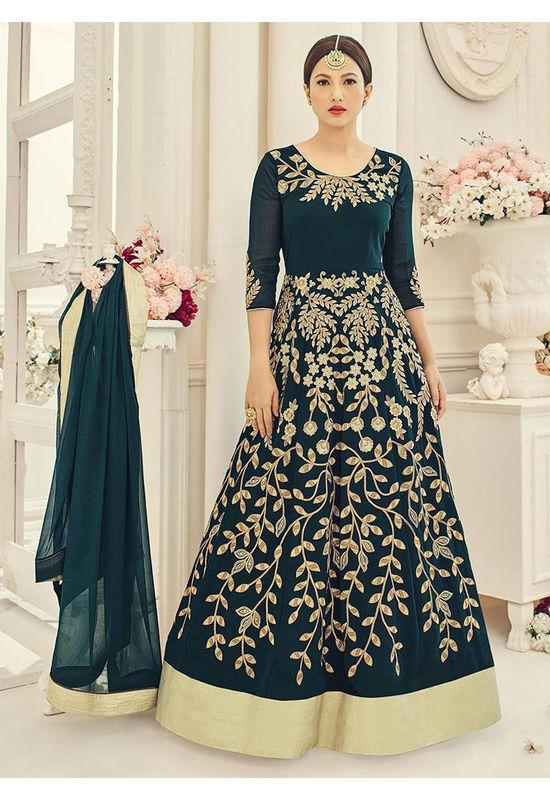 Elegant Gauhar Khan Anarkali Suit _9
