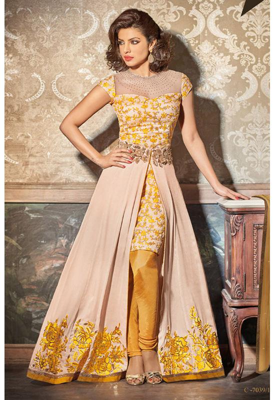 Priyanka Chopra Long Drape Style Designer Salwar Suit_10