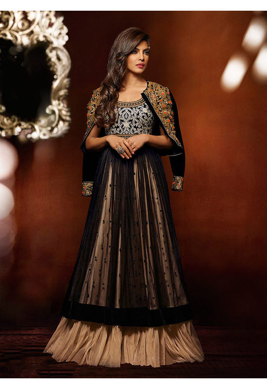 Priyanka Chopra Long Party Gown or Anarkali Dress for Indian wedding