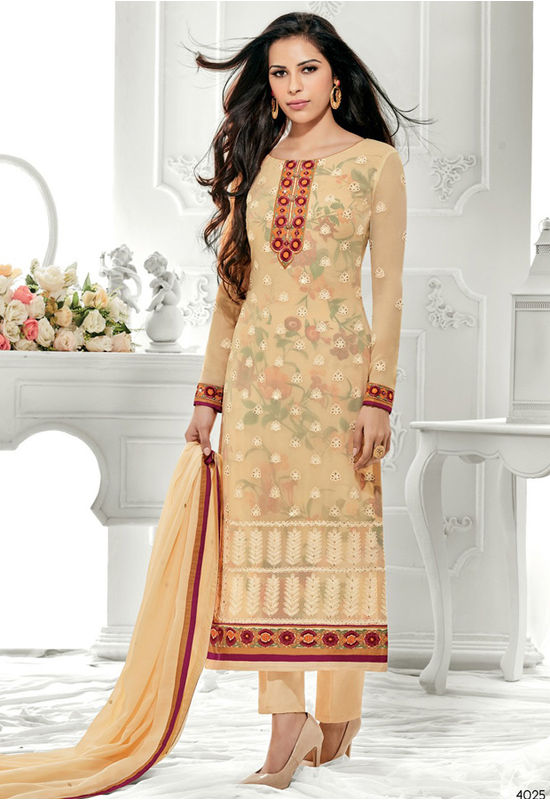 Yellow Color Gorgeous Party Wear Staright Suit_4025