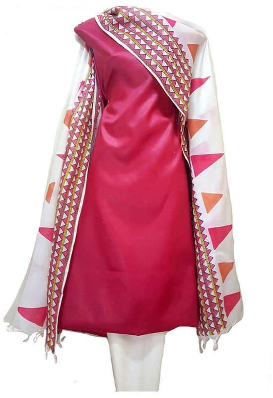 Tussar Silk Suit with Printed Dupatta 2
