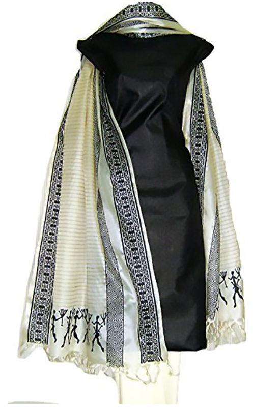 Tussar Silk Suit with Printed Dupatta 51Ay7H-R0IL