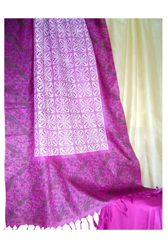 Pure Tussar Silk Suit in Pink Color_19