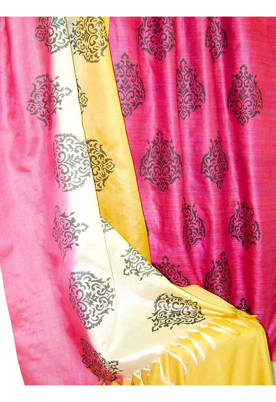 Pure Tussar Silk Suit in Pink Color_21