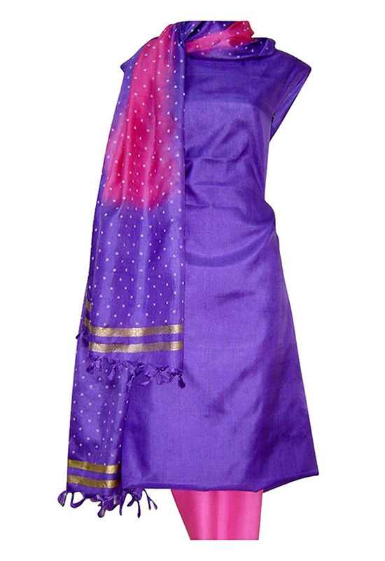 Tussar Silk Suit with Printed Dupatta  UL1500