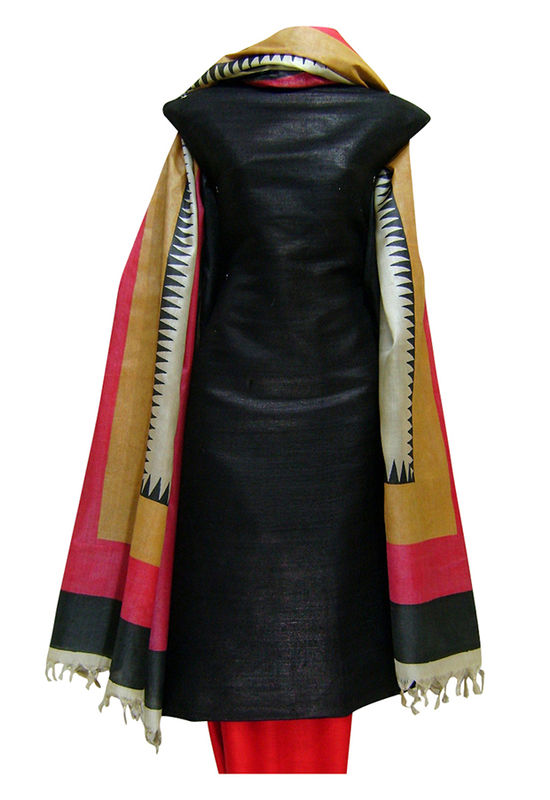 Tussar Silk Suit with Printed Dupatta SP 177