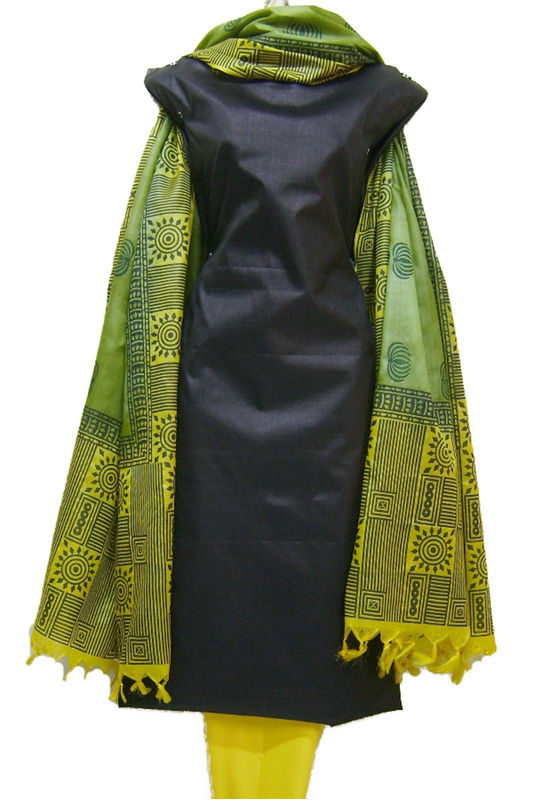 Tussar Silk Suit with Printed Dupatta SP 292