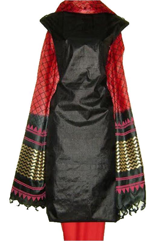 Tussar Silk Suit with Printed Dupatta Sp 278