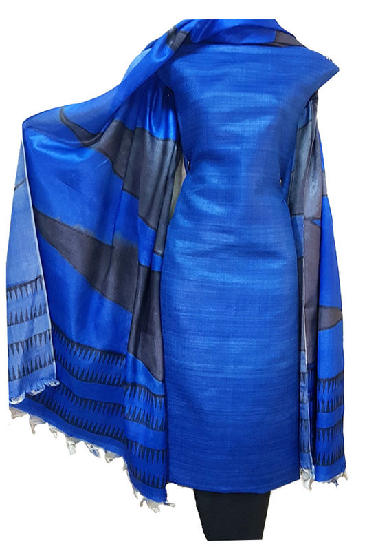 Tussar Silk Material dress material R 51