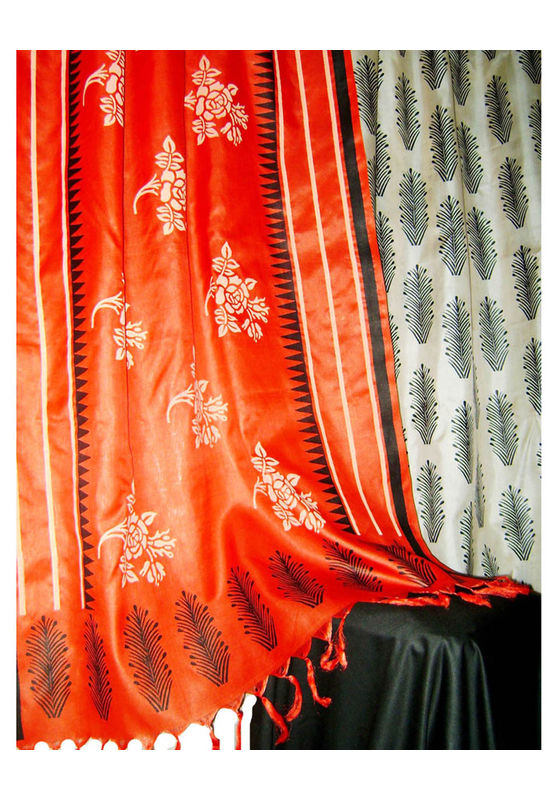 Tussar Silk Suit in Red Shade_20