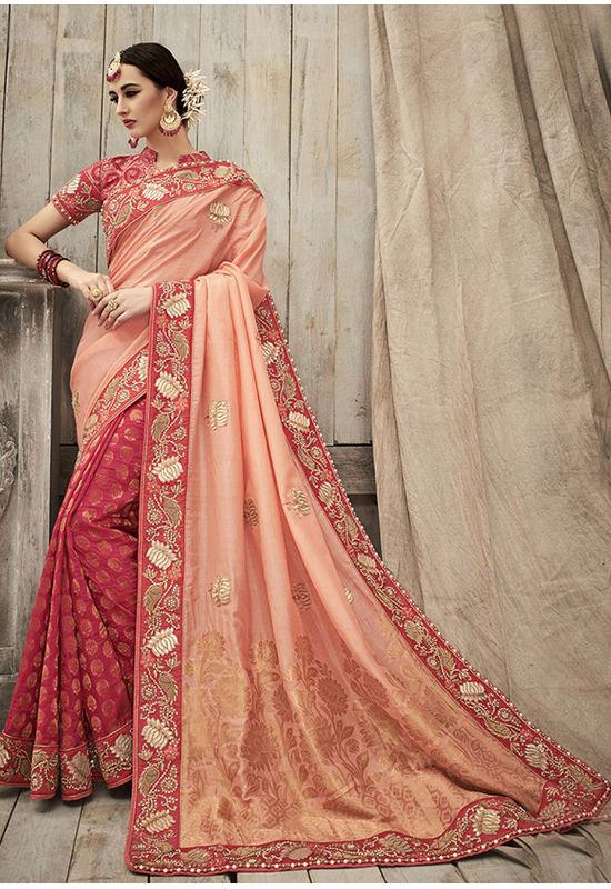 Designer Wedding Red Bridal Saree_1