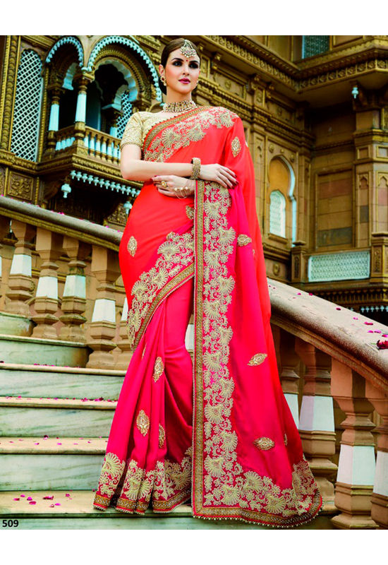 Designer Wedding Red Bridal Saree_11