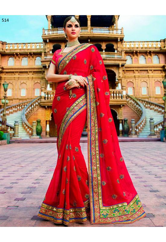 Designer Wedding Red Bridal Saree_12