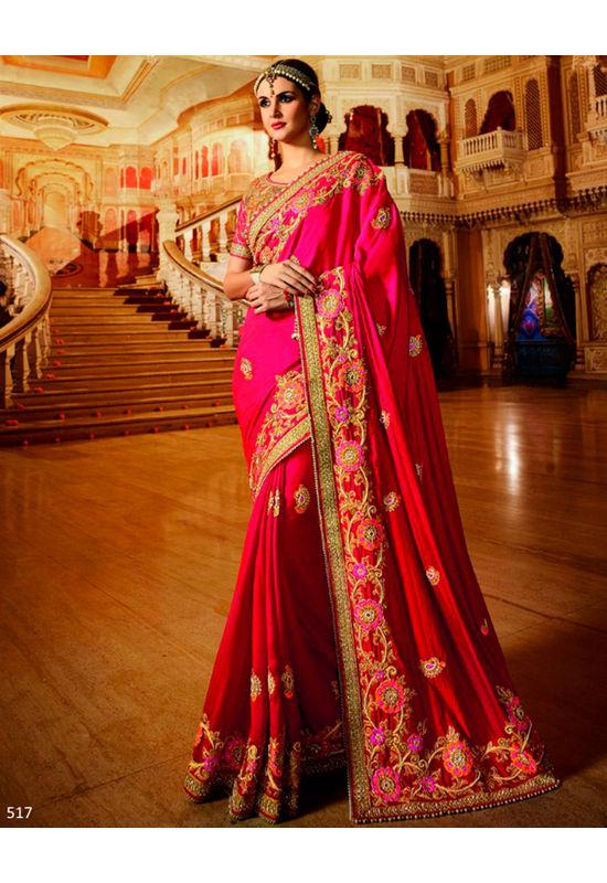 Designer Wedding Red Bridal Saree_13