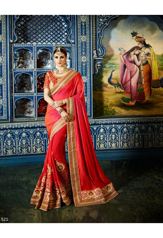 Designer Wedding Red Bridal Saree_14