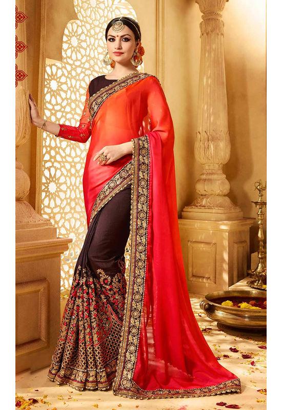 Designer Wedding Red Bridal Saree_15