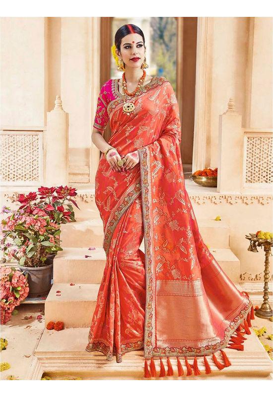 Designer Wedding Red Bridal Saree_6