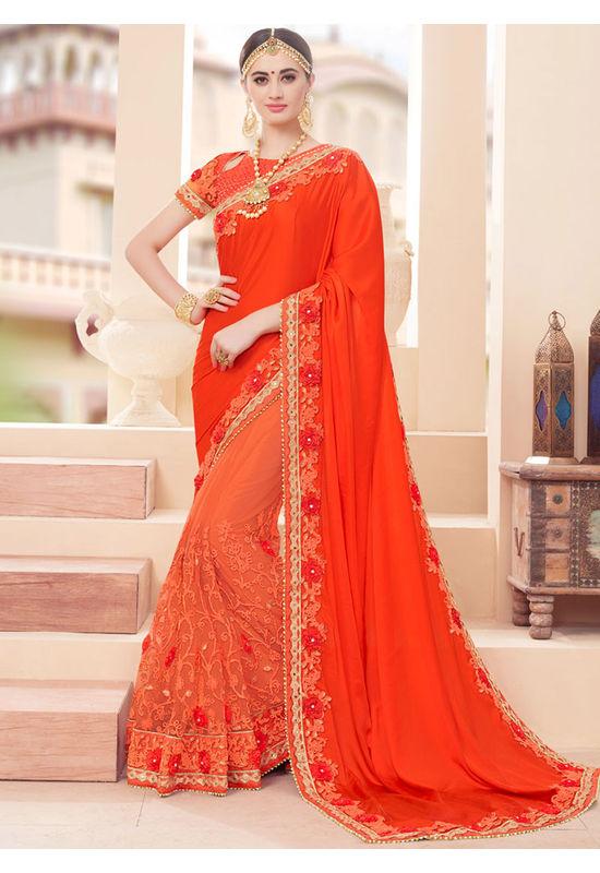 Designer Wedding Red Bridal Saree_8