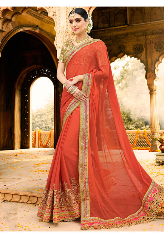 Designer Wedding Red Bridal Saree_9
