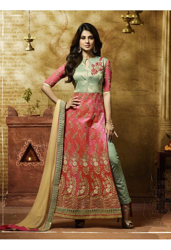 Jeniffer Winget in Pant Style Salwar Suit