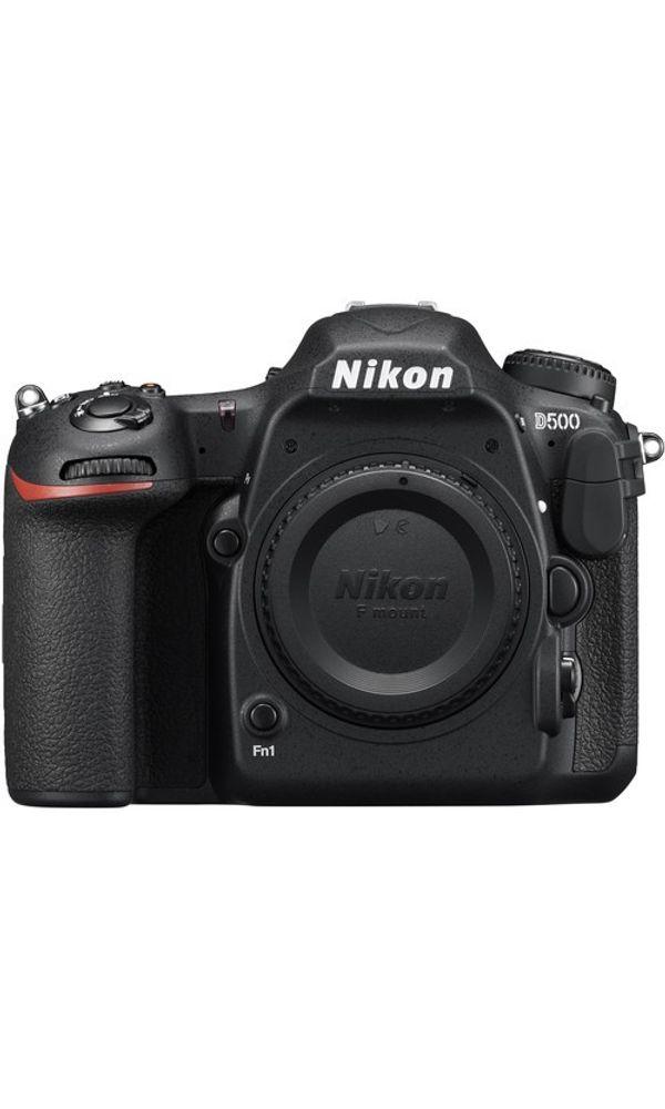 Nikon D500 body with 64 GB High Speed SD card & D-SLR bag