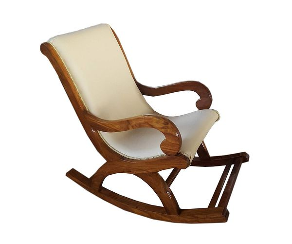 Onlineshoppee Shesham Wood Rocking Chair With Cushion