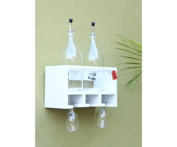 5ed7f7ed76 Onlineshoppee Unique Wooden Bottle Rack ( 2 Bottles Holder)