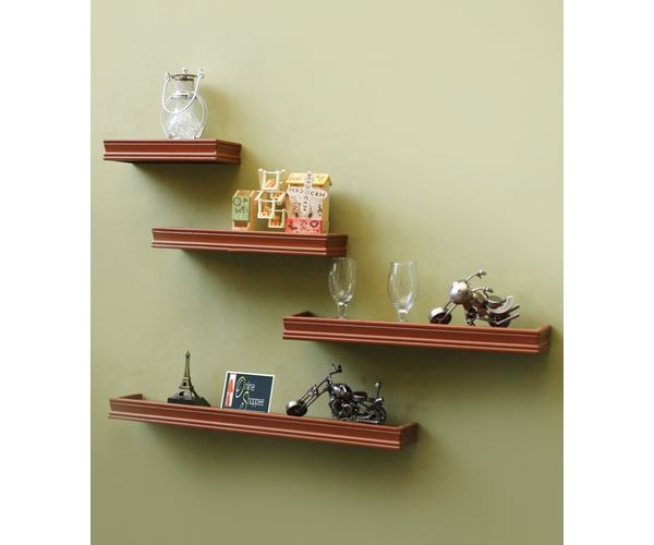 fdc64fa0bd5 Zoom. Sale. Onlineshoppee Beautiful Wooden Brown Rectangular Wooden Wall  Shelf. ‹ ›
