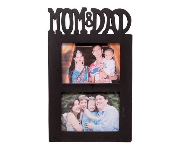 Onlineshoppee Wooden and Antique Wall Hanging MOM & DAD Photo Frame ...
