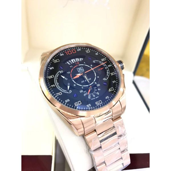 9bcc44d0296 TAG HEUER ROSE GOLD SLS MERCEDES BENZ MEN S WATCH WITH ALL FUNCTIONS WORKING
