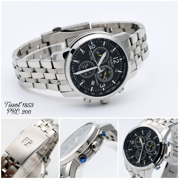 d921f643f5d Tissot PRC 200 Chronograph Silver Strap Watch For Men