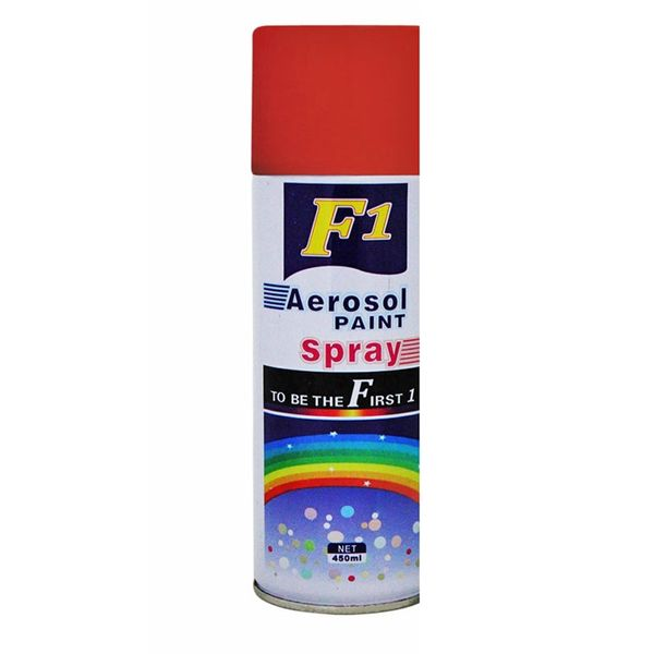 F1 Car Touchup Spray Paint 450ml Red Color