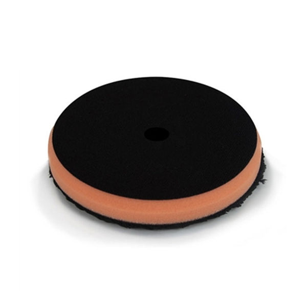 "Chemical Guys 6.5"" Black Optics Microfiber Orange Cutting Pad"