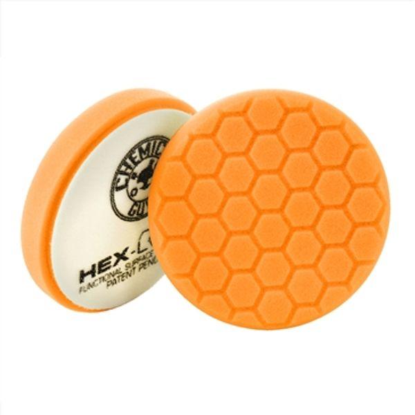 Chemical Guys 6.5 Hex-Logic Medium-Heavy Cutting Pad, Orange