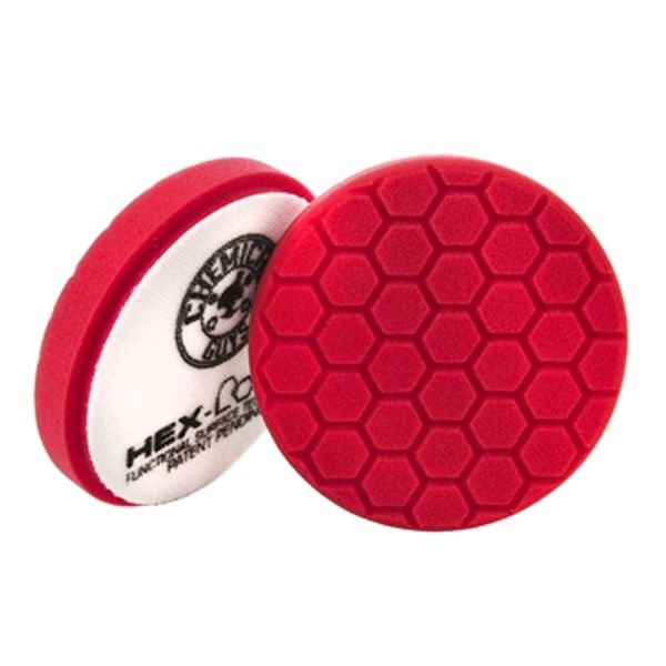 "Chemical Guys 6.5"" Hex-Logic Ultra Light Finishing Pad, Red"