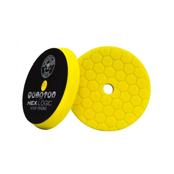 "Chemical Guys 5.5"" Hex Logic Quantum Heavy Cutting Pad, Yellow"
