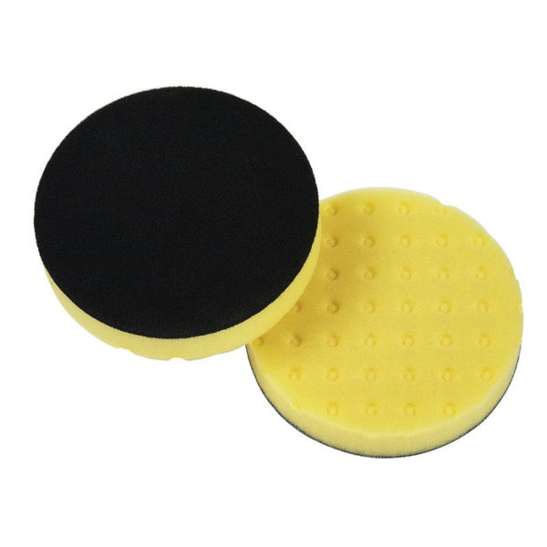 "Lake Country 6.5"" Yellow CCS Foam Cutting Orbital Pad"