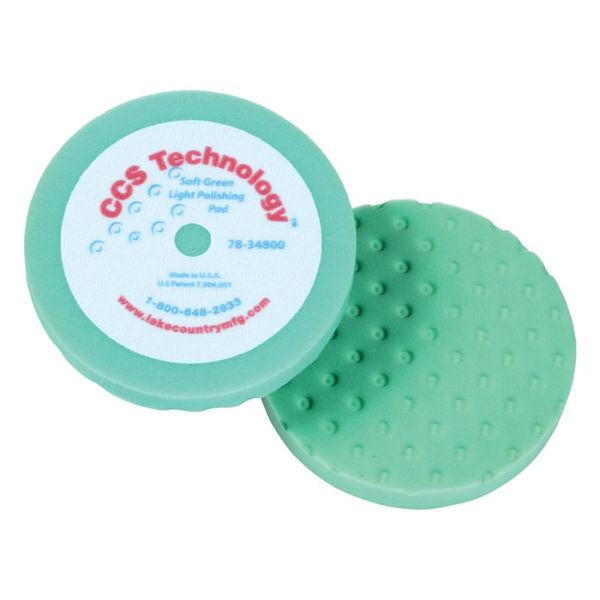 "Lake Country 8"" Soft Green Foam Heavy Polishing Pad"