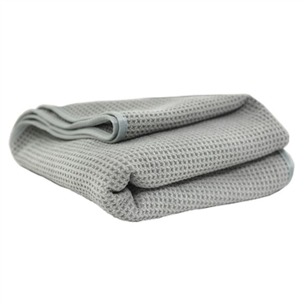 "Chemical Guys Waffle Weave Gray Matter Microfiber Drying Towel, 36"" x 25"""