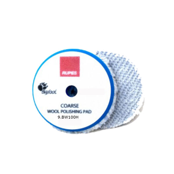 Rupes Coarse Blue Wool Compounding Pad 100mm ( DA Pad )
