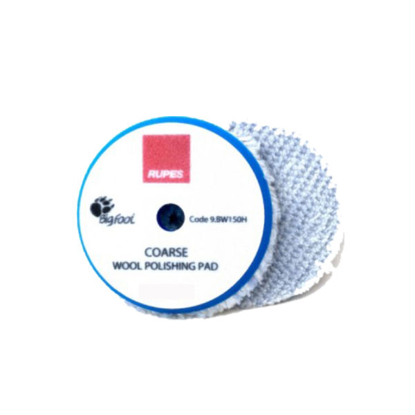 Rupes Coarse Blue Wool Compounding Pad 150mm ( DA Pad )