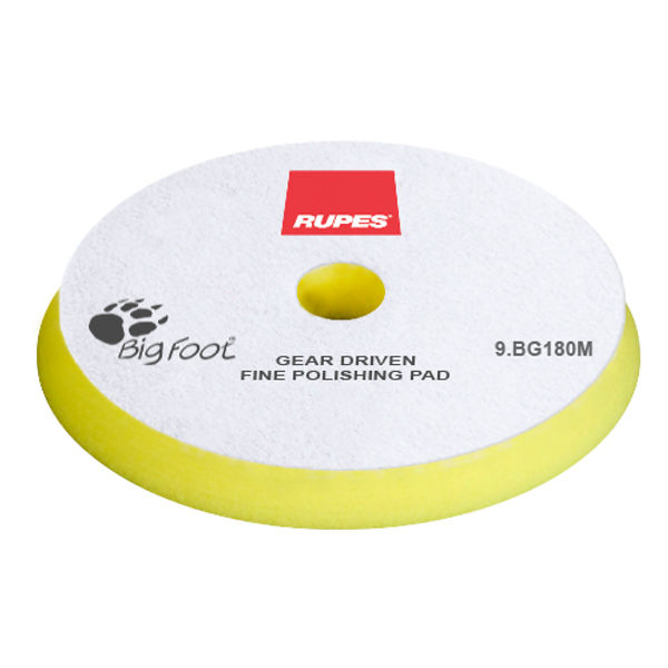Rupes Mille Fine Pad Yellow 180 mm