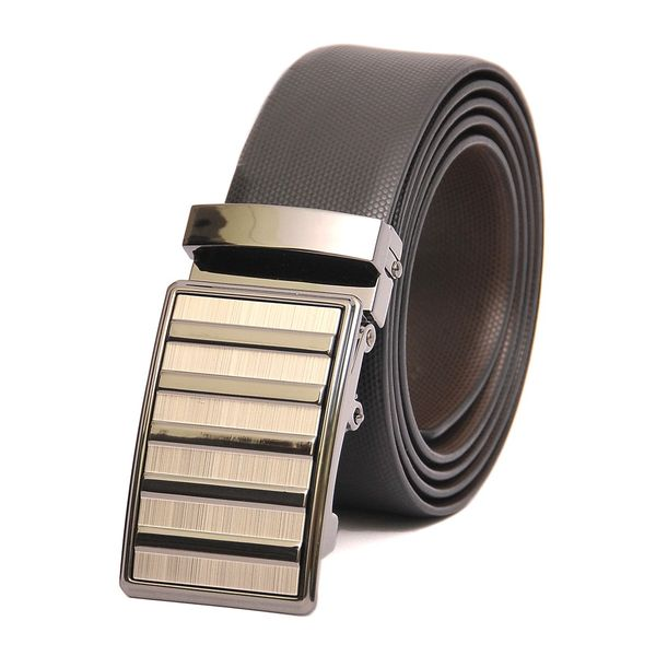 HIDEMARK BUSINESS  REVERSIBLE LEATHER BELT WITH AUTO BUCKLE