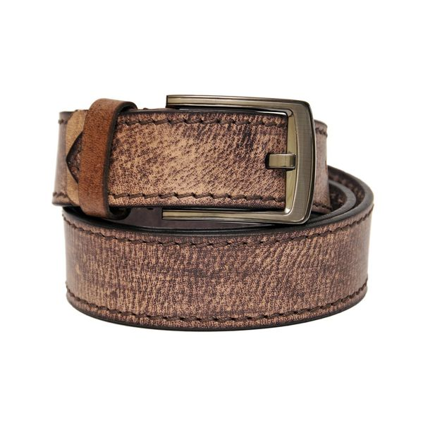 TAN BROWN LEATHER CASUAL BELT